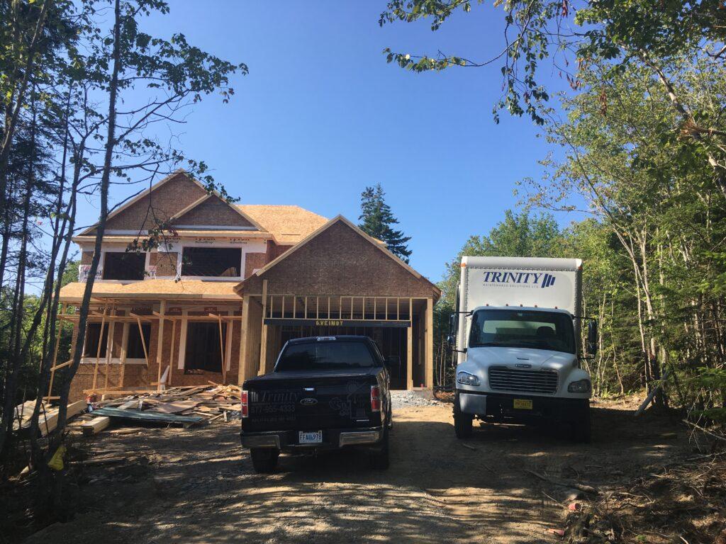 Residential construction in Atlantic Canada receiving spray foam insulation